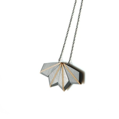 Aluminum Necklace with Linden Wood