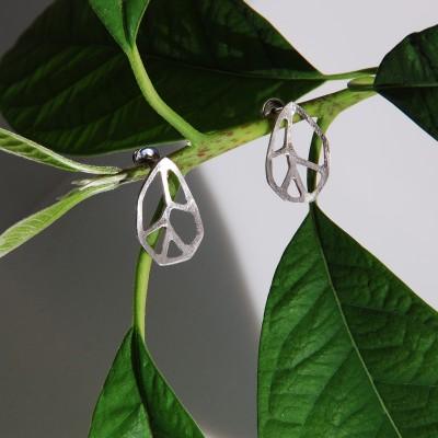 LEAF silver earrings
