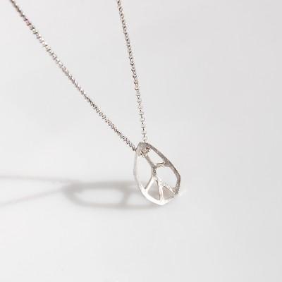 bransoletka srebrna satynowa LEAF