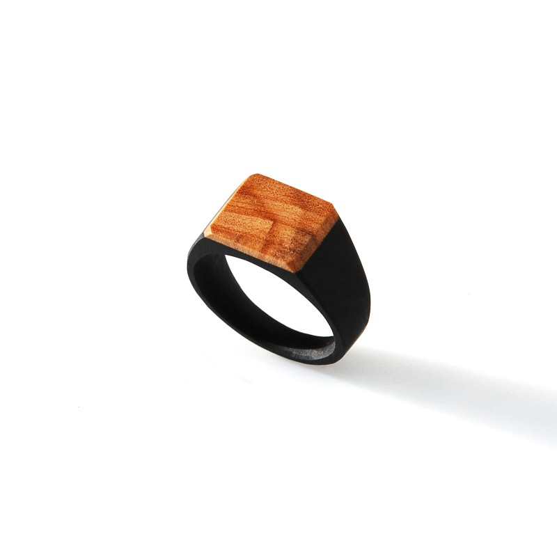 Signet with Olive Wood