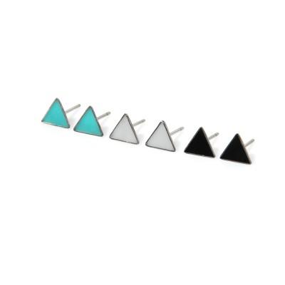 kolczyki mini trójkąty