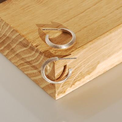 Split silver earrings