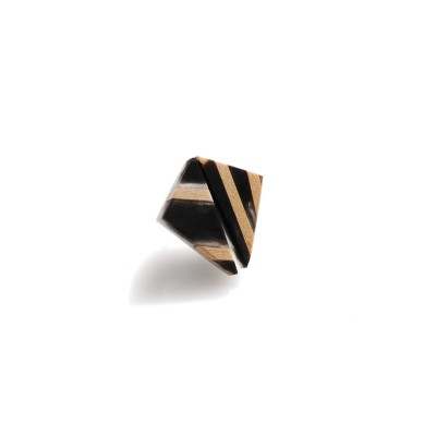 Black  Earrings  With Linden Wood