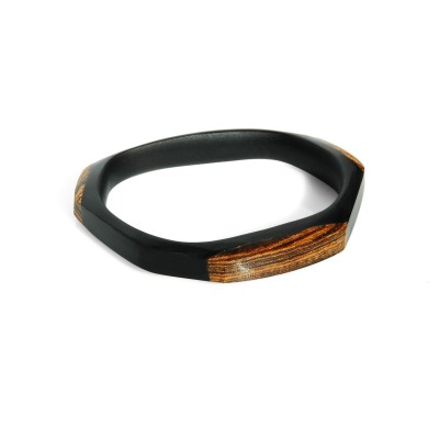 Edgy Cuff Bracelet with Beech Wood