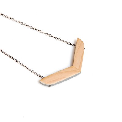 Arrow Necklace with Wood