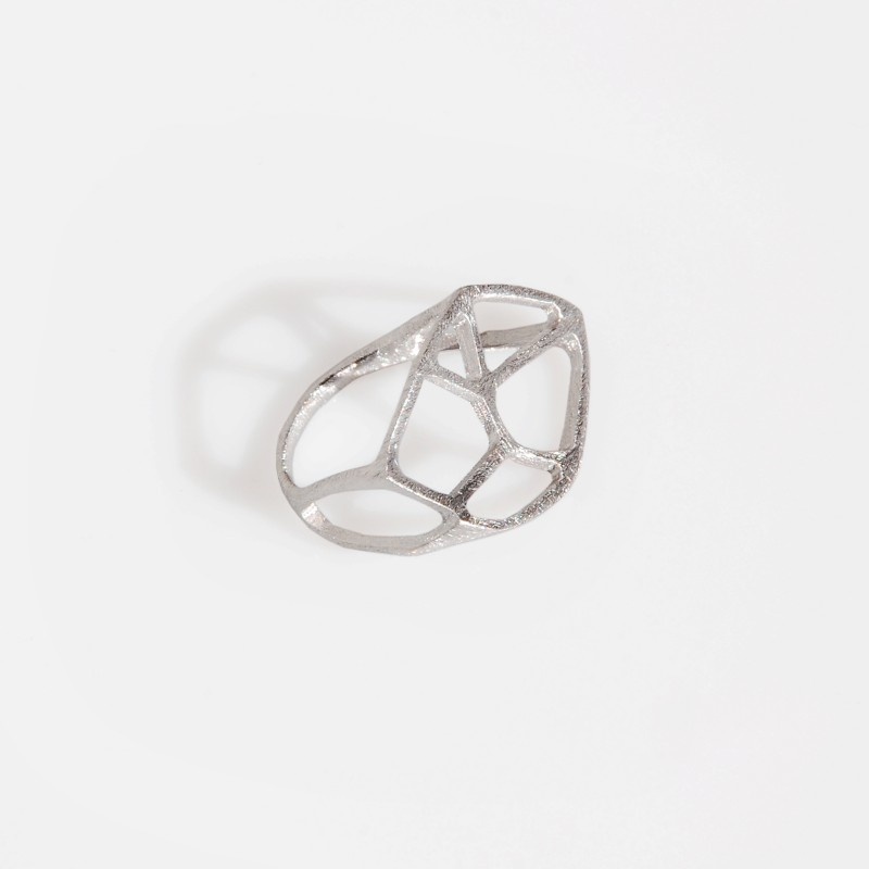 pierścionek srebrny LEAF