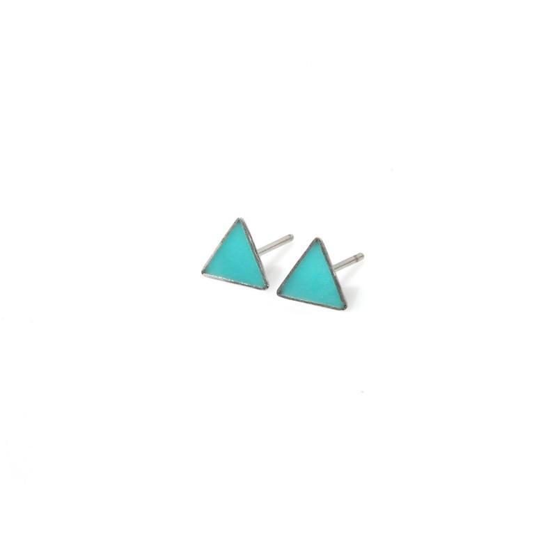 mini triangle earrings