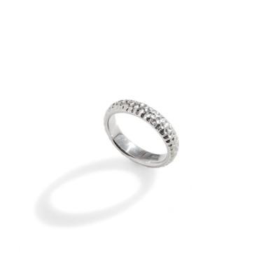 obrączka srebrna Dot