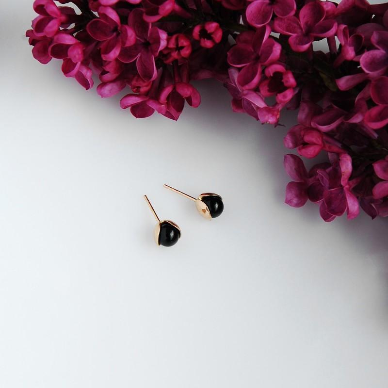 LILY  silver studs earrings
