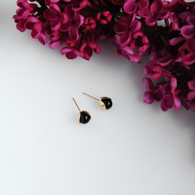 LILY  silver studs earrings