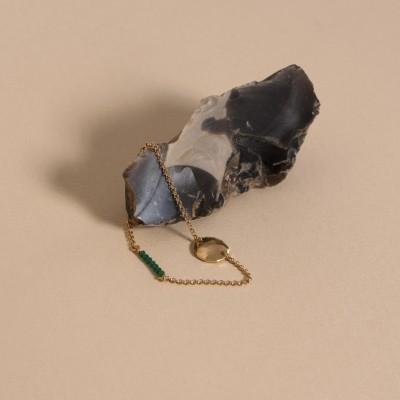 złocona bransoletka z kamieniami