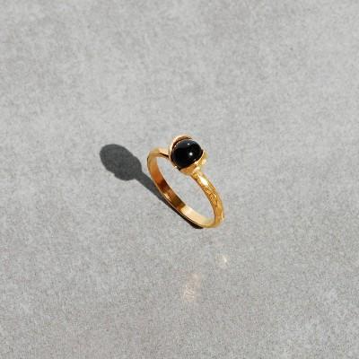 pierścionek złocona Konwalia